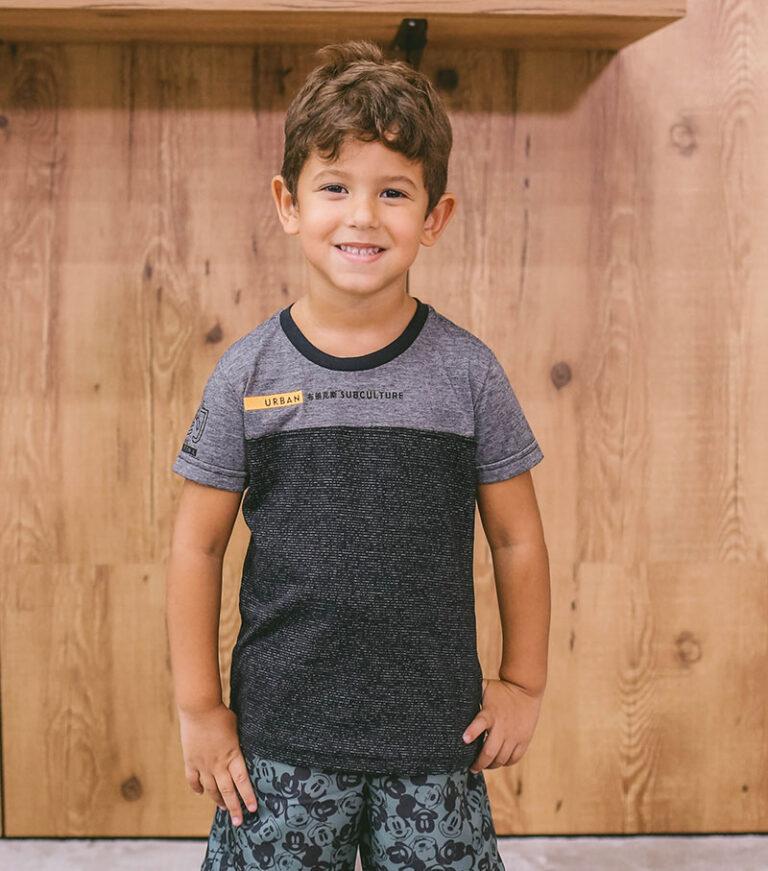 T-shirt infantil estampada